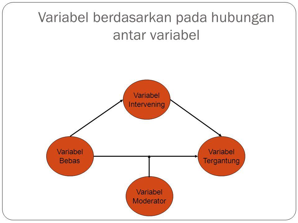 Variabel berdasarkan pada hubungan antar variabel