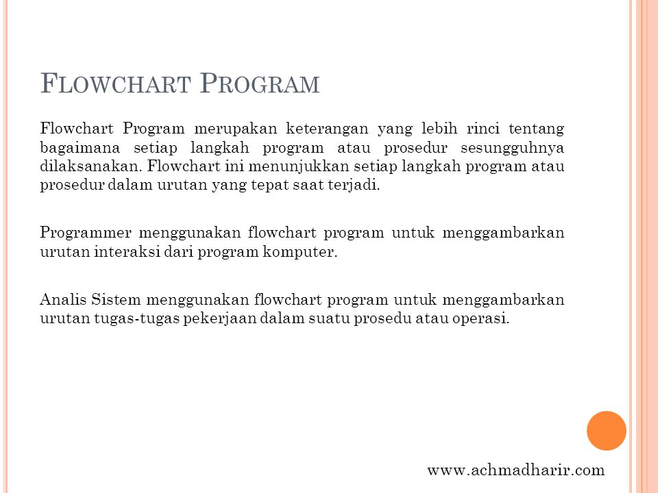Flowchart Program www.achmadharir.com