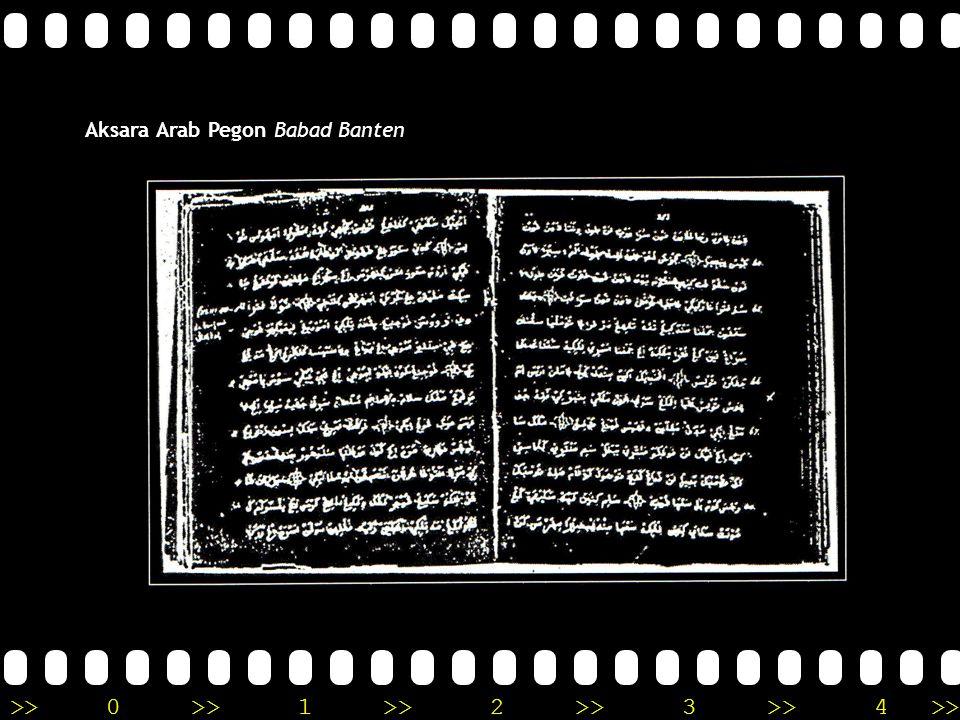 Aksara Arab Pegon Babad Banten
