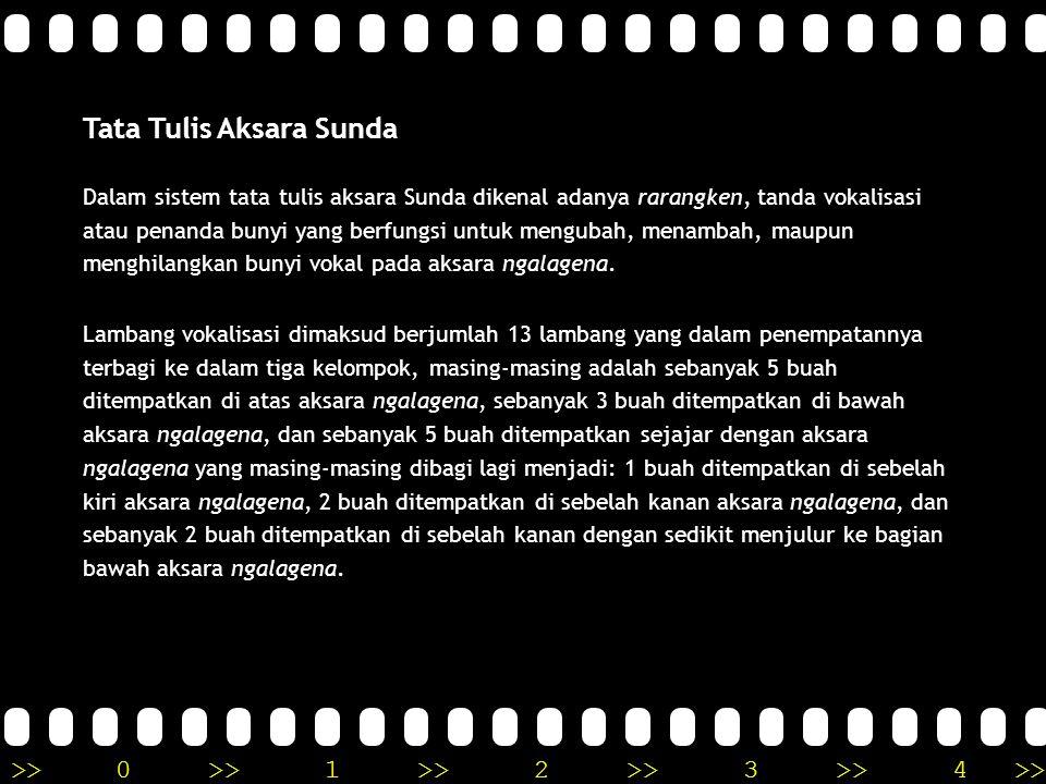 Tata Tulis Aksara Sunda