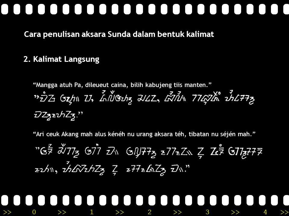 Cara penulisan aksara Sunda dalam bentuk kalimat