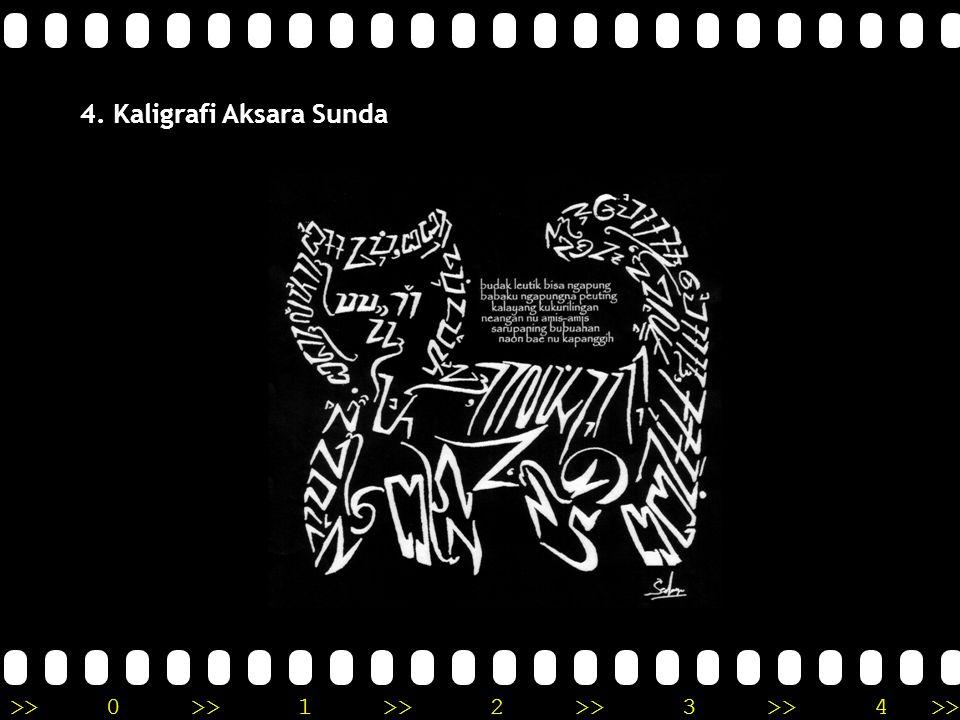 4. Kaligrafi Aksara Sunda