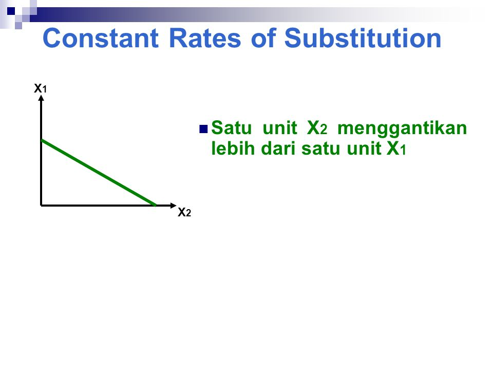 Constant Rates of Substitution
