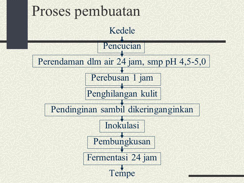 Proses pembuatan Kedele Pencucian