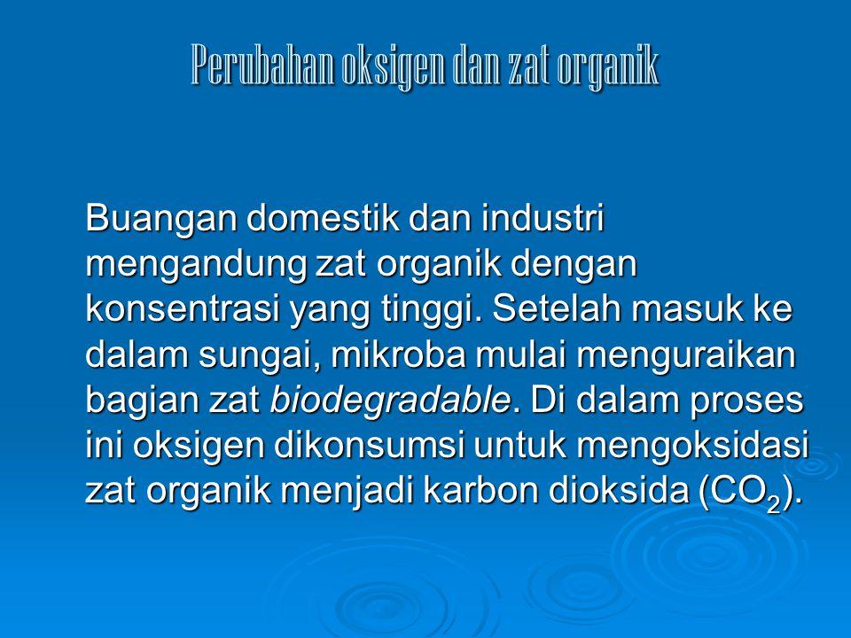 Perubahan oksigen dan zat organik
