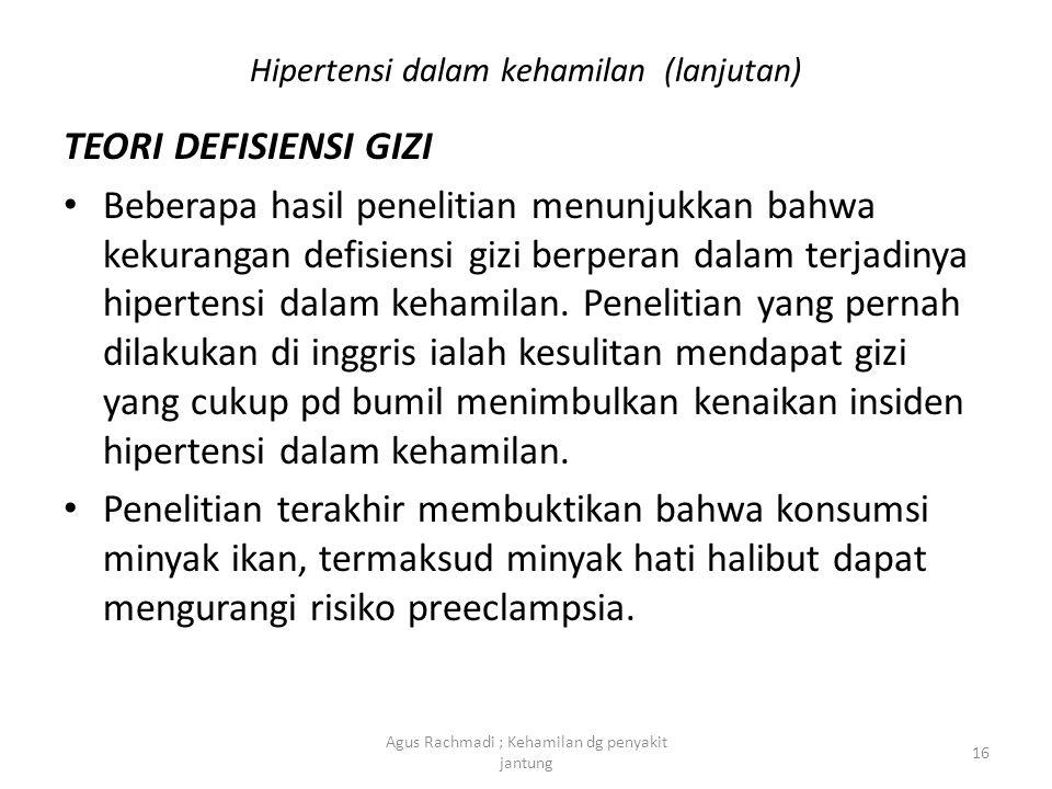 Hipertensi dalam kehamilan (lanjutan)