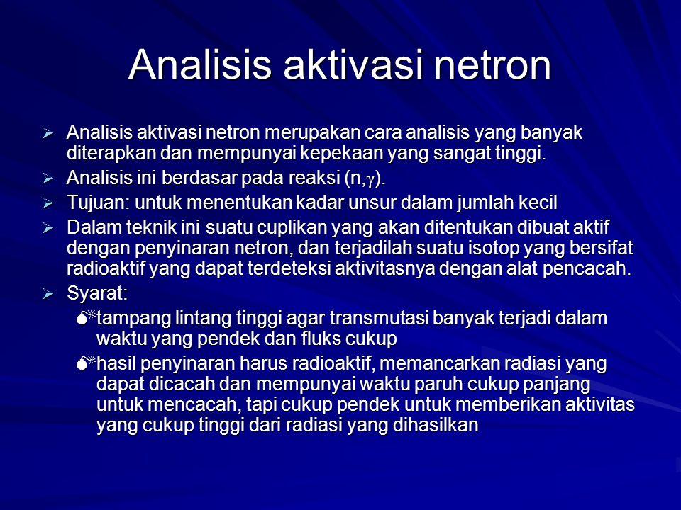 Analisis aktivasi netron