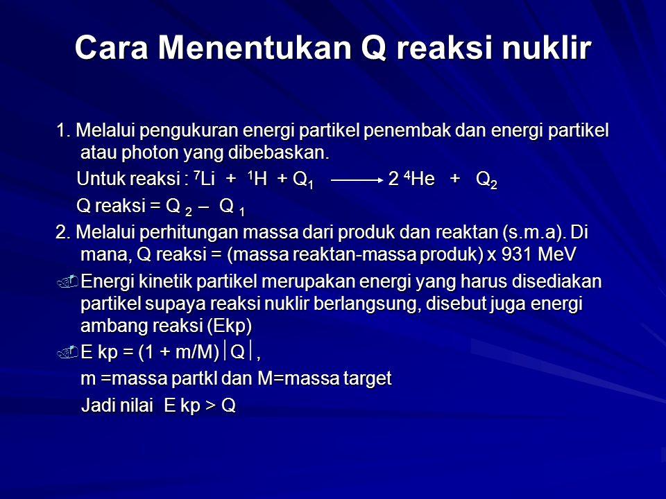 Cara Menentukan Q reaksi nuklir