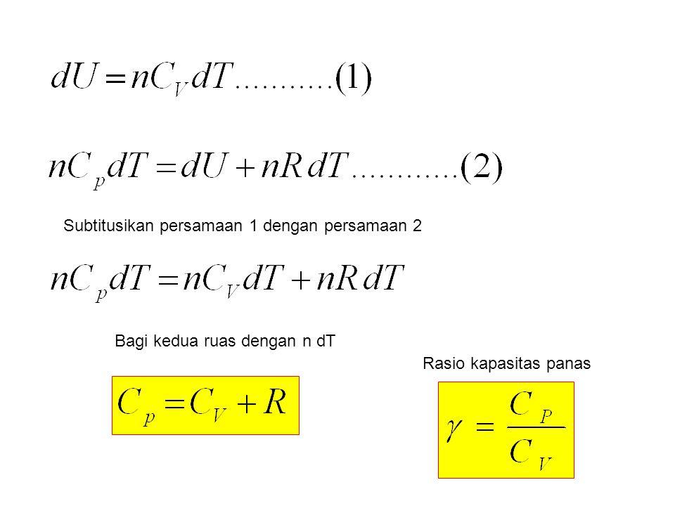 Subtitusikan persamaan 1 dengan persamaan 2