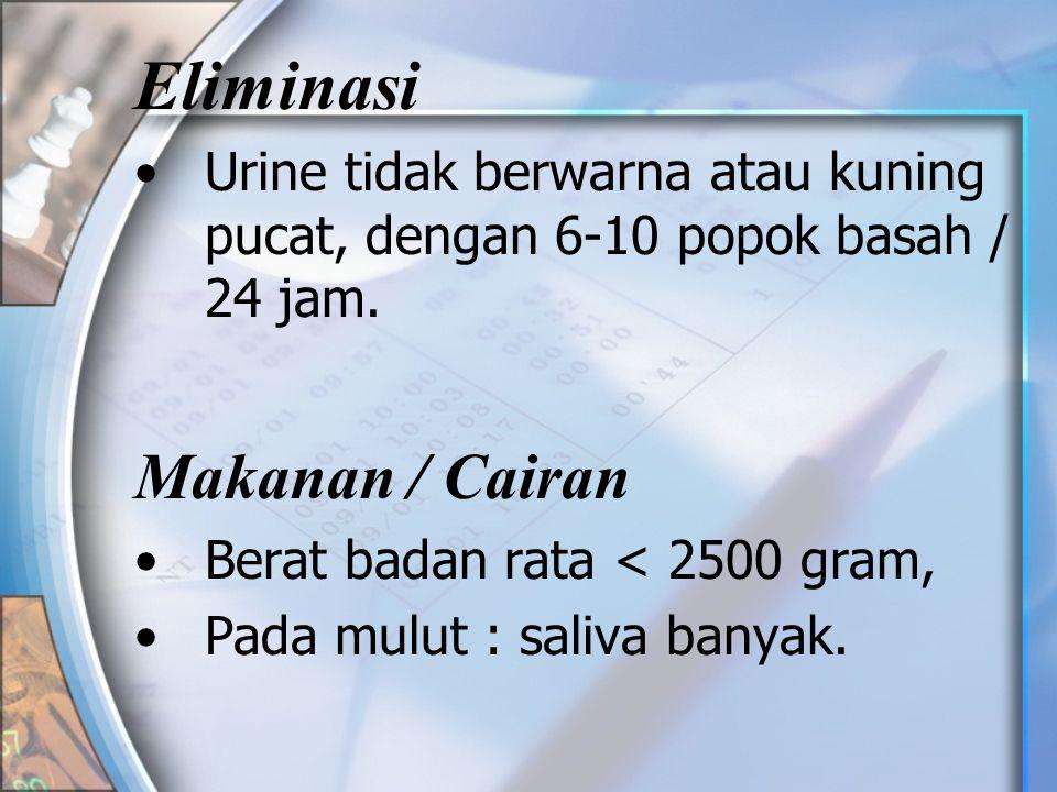 Eliminasi Makanan / Cairan