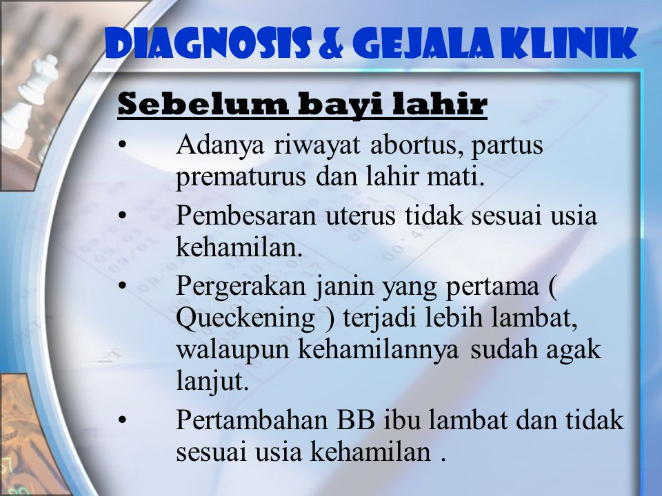 DIAGNOSIS & GEJALA KLINIK