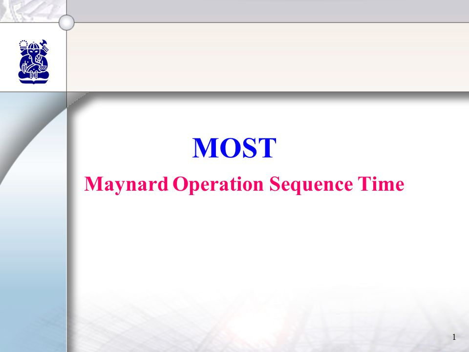Maynard Operation Sequence Time