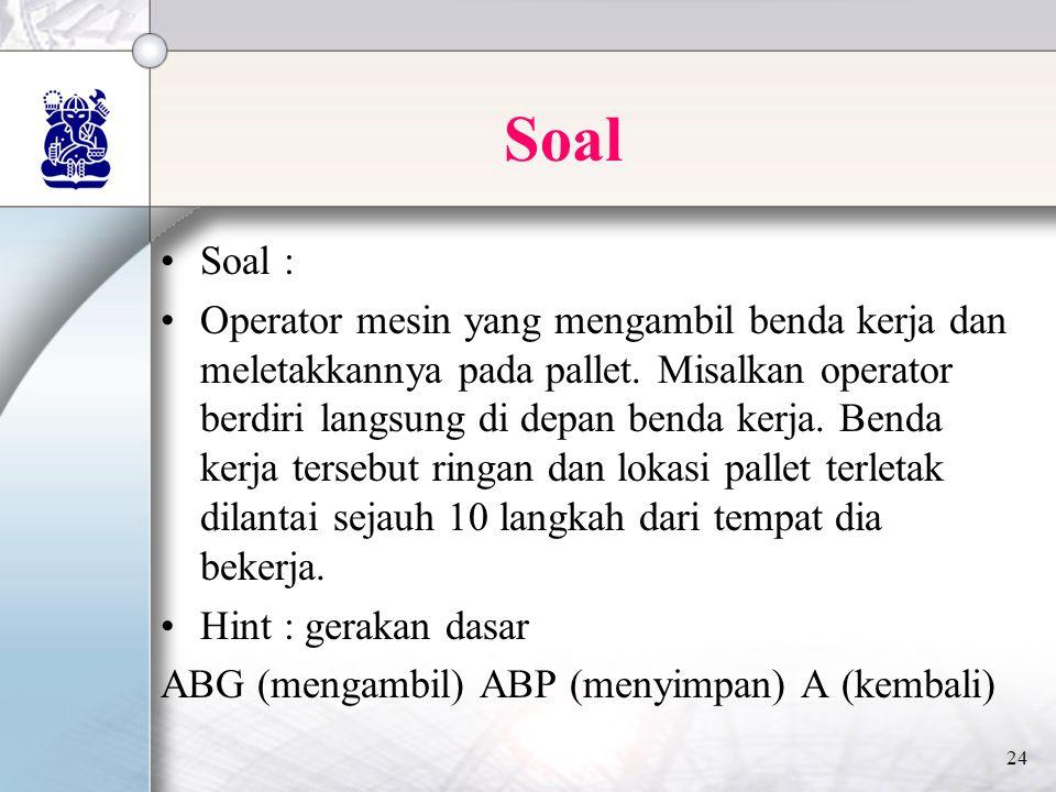 Soal Soal :