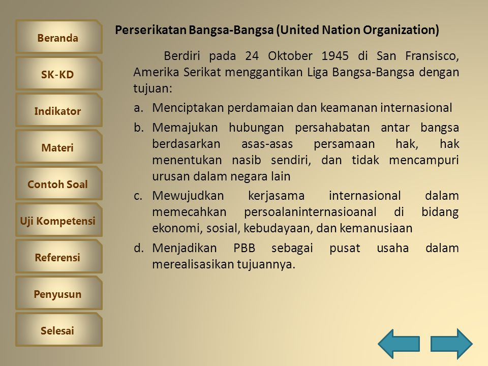 Perserikatan Bangsa-Bangsa (United Nation Organization)