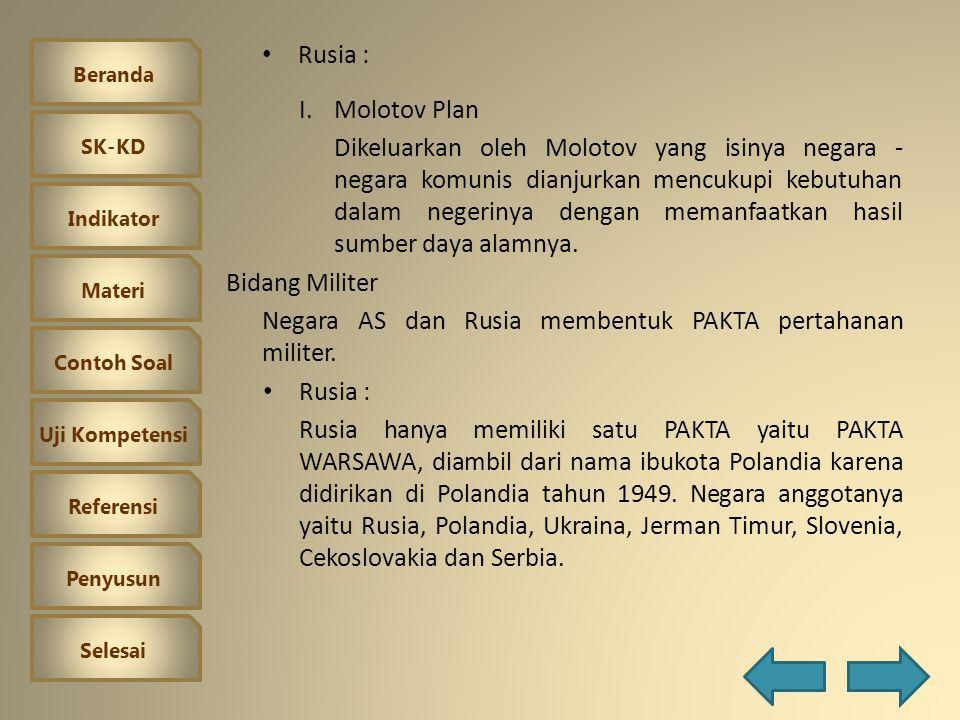 Rusia : Molotov Plan.