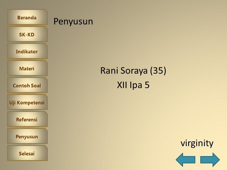 Rani Soraya (35) XII Ipa 5 virginity