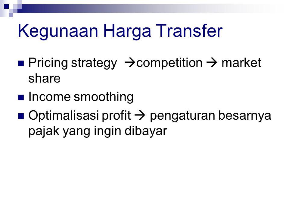 Kegunaan Harga Transfer