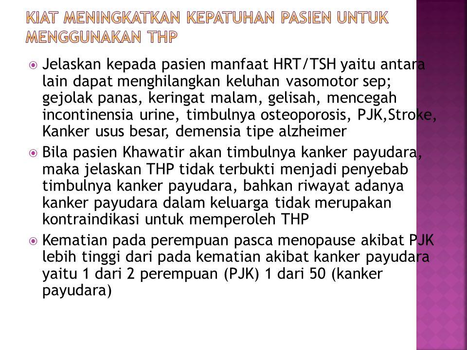 Kiat Meningkatkan Kepatuhan Pasien Untuk Menggunakan THP