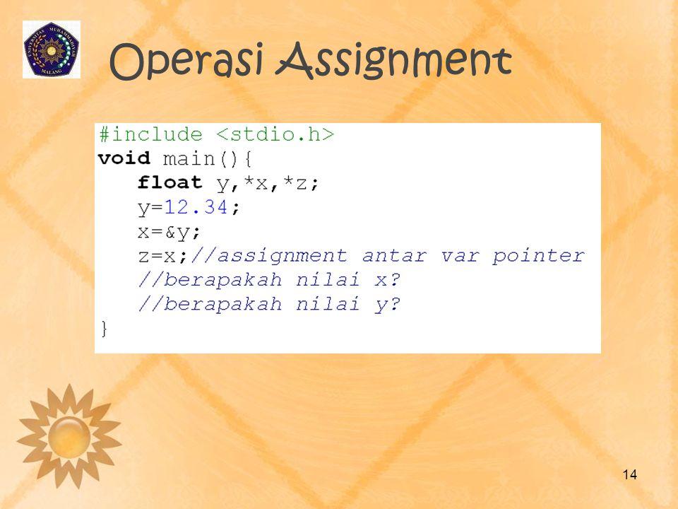 Operasi Assignment