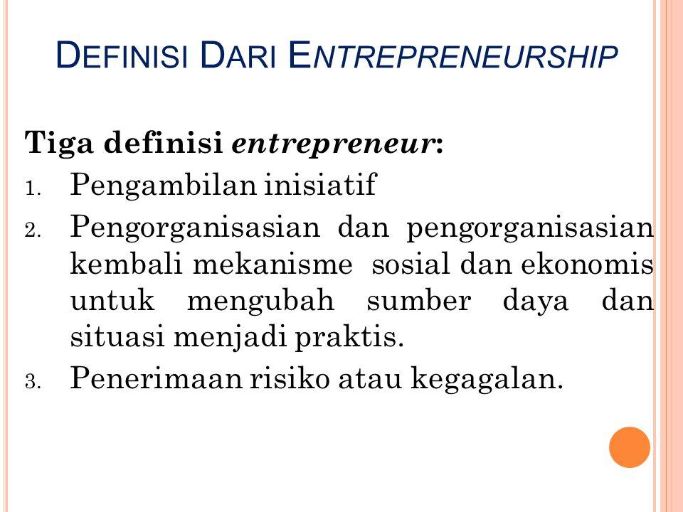 Definisi Dari Entrepreneurship