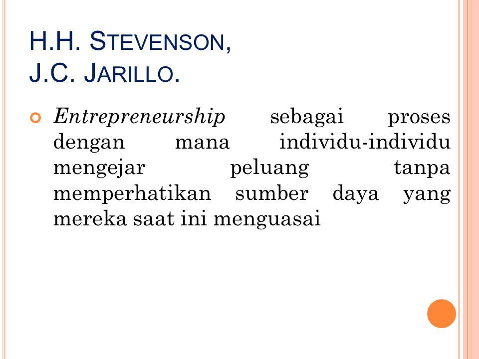 H.H. Stevenson, J.C. Jarillo.