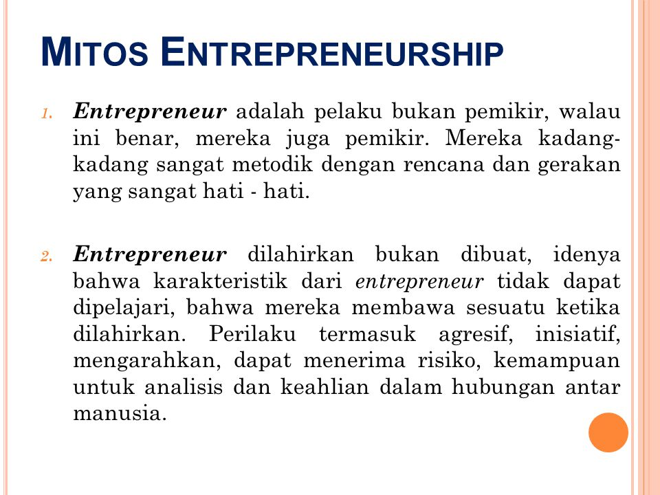 Mitos Entrepreneurship