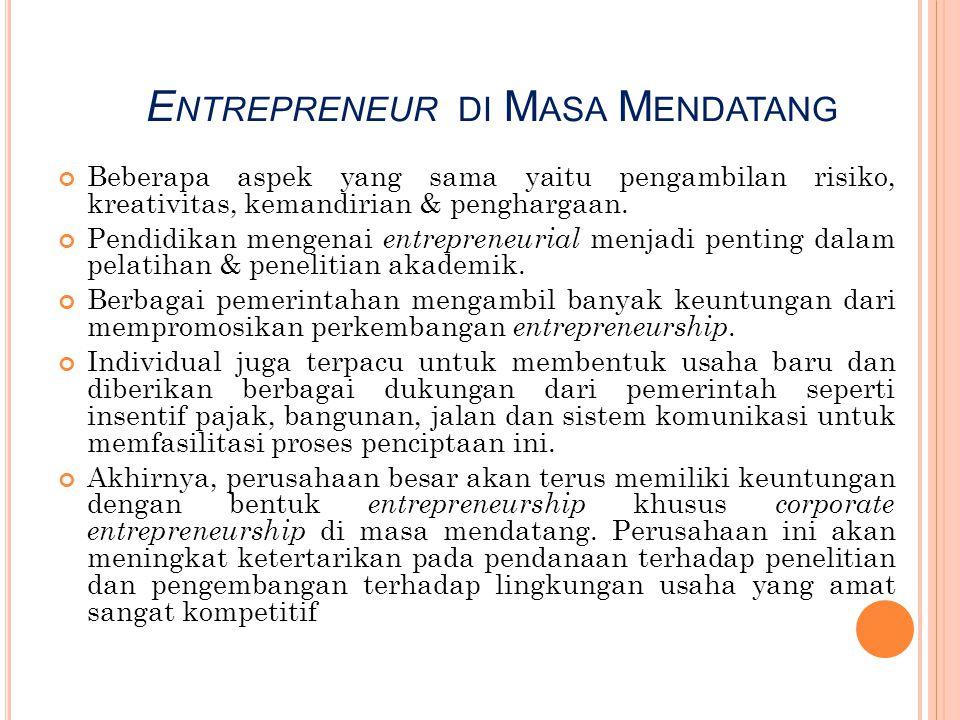 Entrepreneur di Masa Mendatang