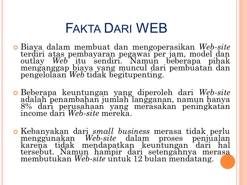Fakta Dari WEB