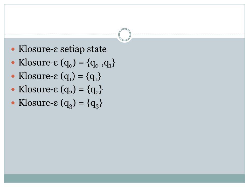 Klosure-ε setiap state