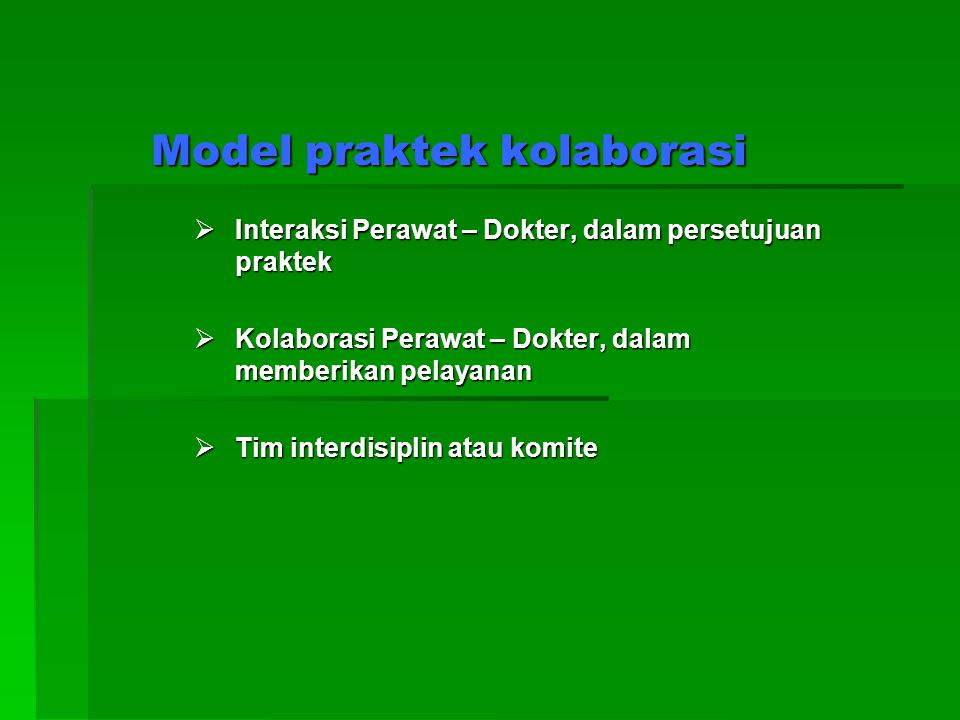 Model praktek kolaborasi