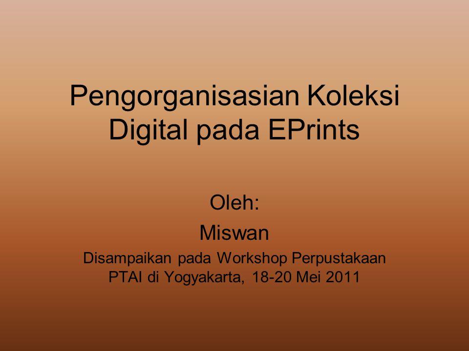 Pengorganisasian Koleksi Digital pada EPrints