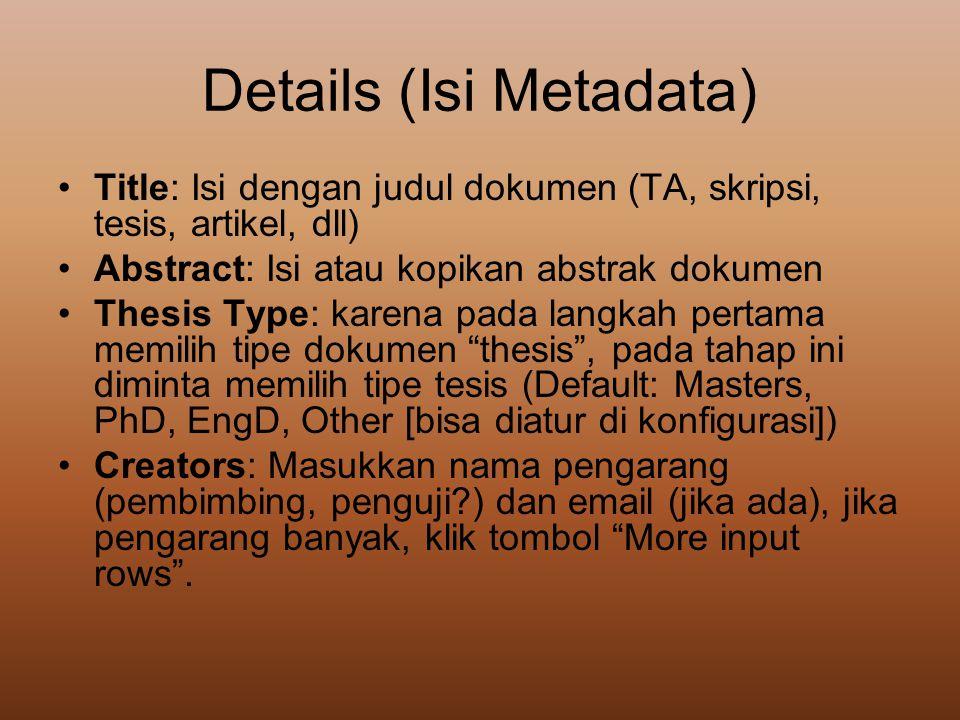 Details (Isi Metadata)