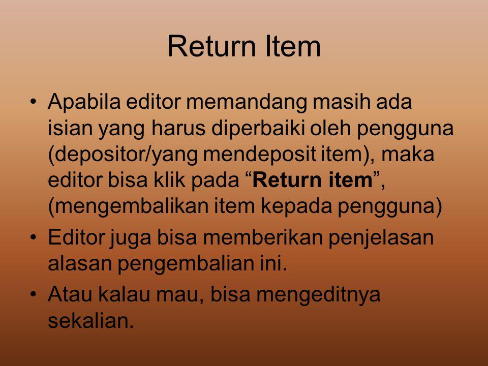 Return Item