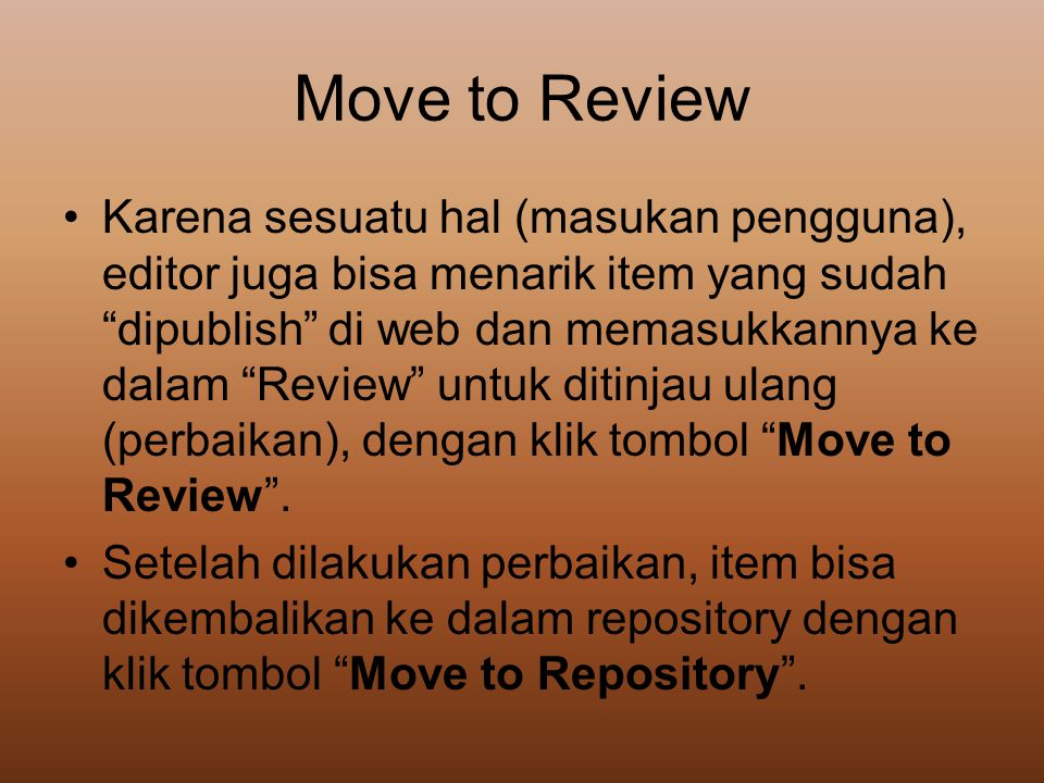Move to Review