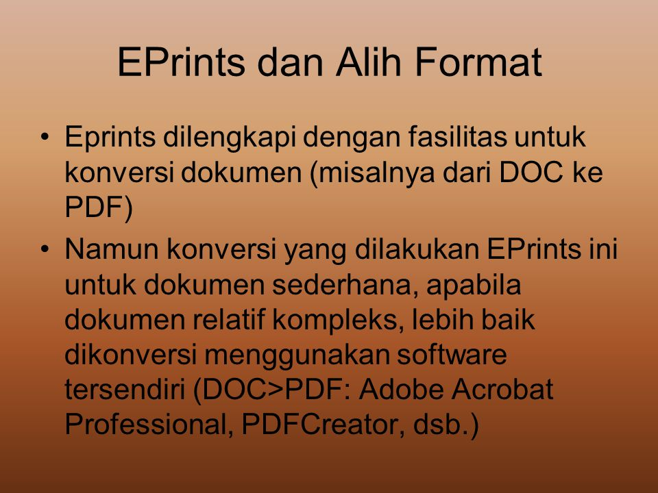 EPrints dan Alih Format