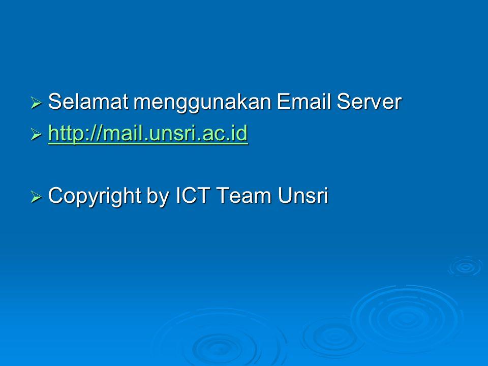 Selamat menggunakan Email Server