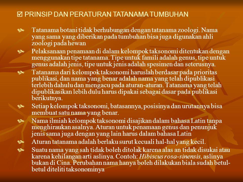  PRINSIP DAN PERATURAN TATANAMA TUMBUHAN