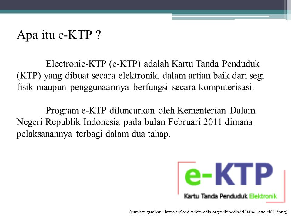 Apa itu e-KTP
