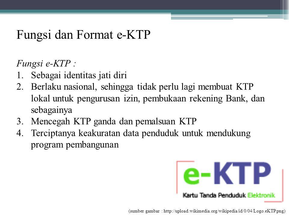 Fungsi dan Format e-KTP