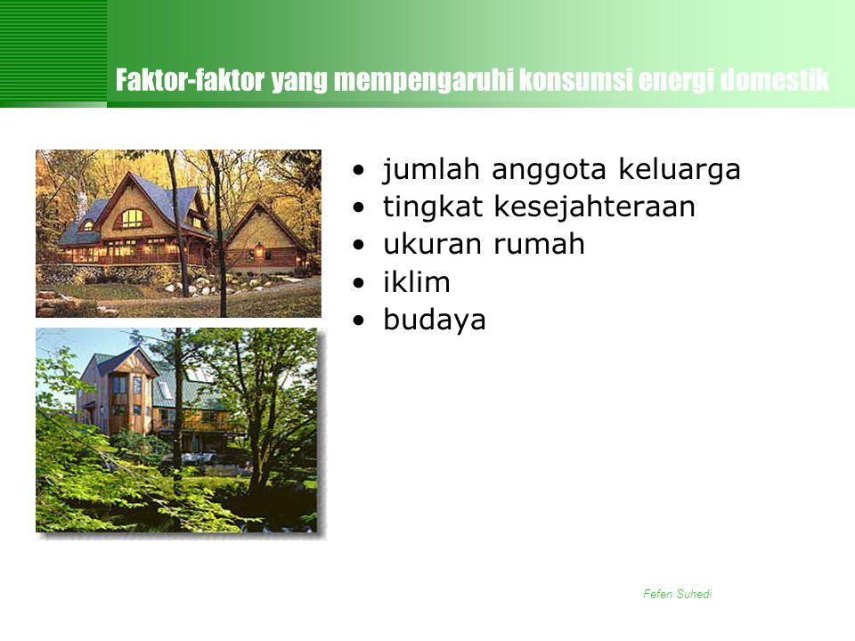 Faktor-faktor yang mempengaruhi konsumsi energi domestik