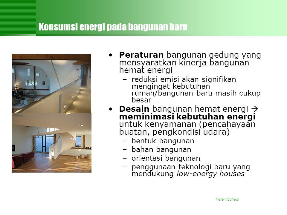 Konsumsi energi pada bangunan baru