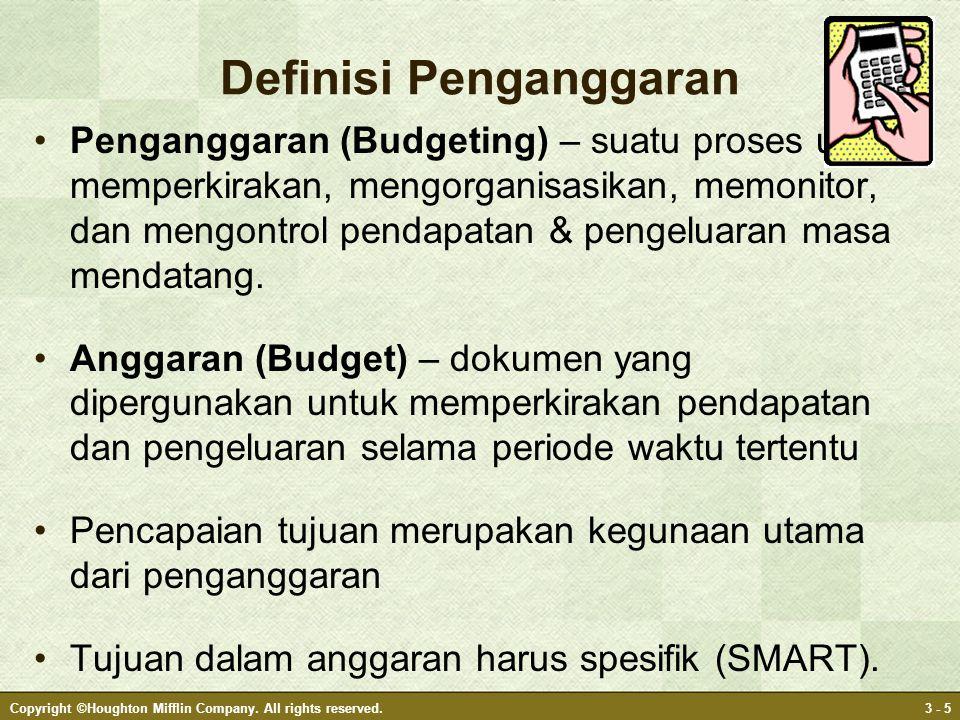 Definisi Penganggaran