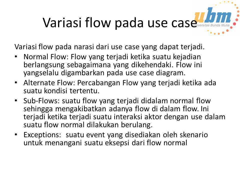 Variasi flow pada use case
