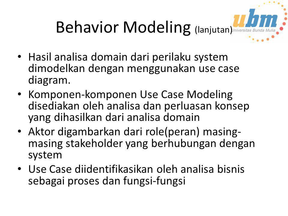 Behavior Modeling (lanjutan)