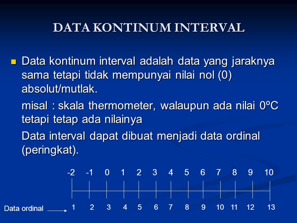 DATA KONTINUM INTERVAL