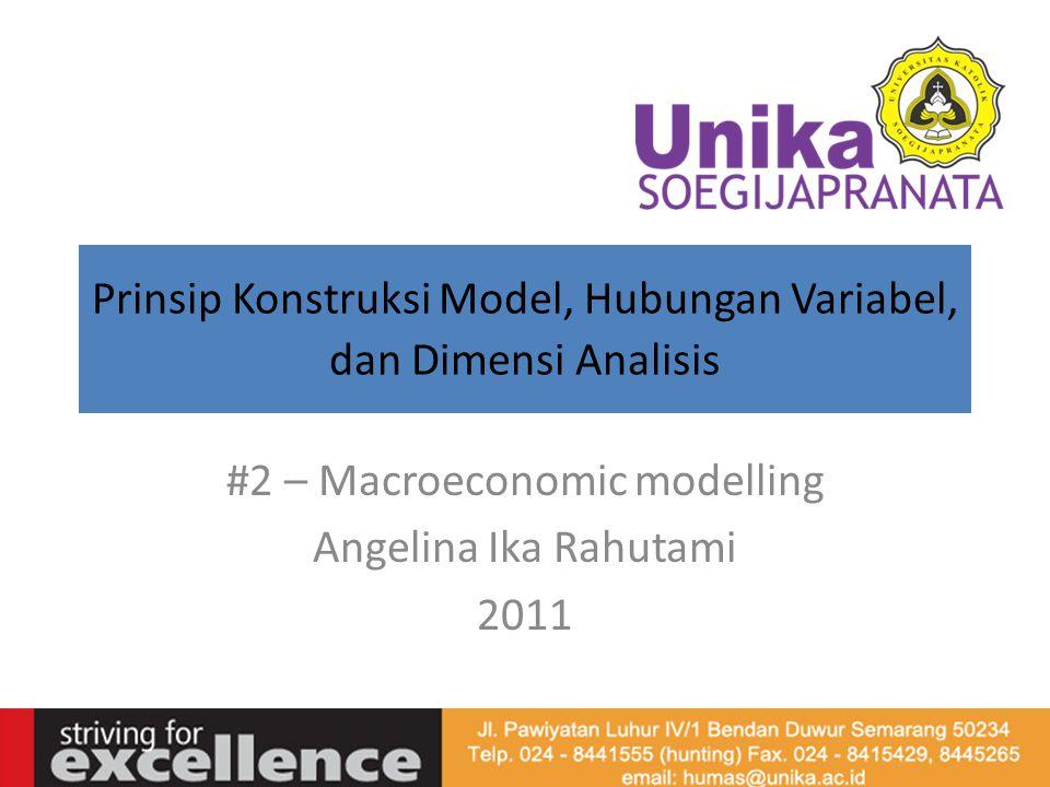 Prinsip Konstruksi Model, Hubungan Variabel, dan Dimensi Analisis