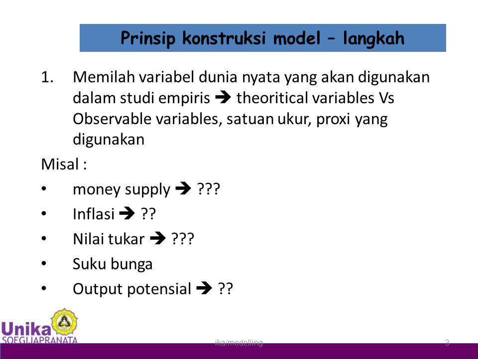 Prinsip konstruksi model – langkah