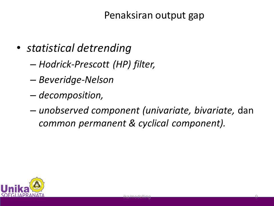 statistical detrending