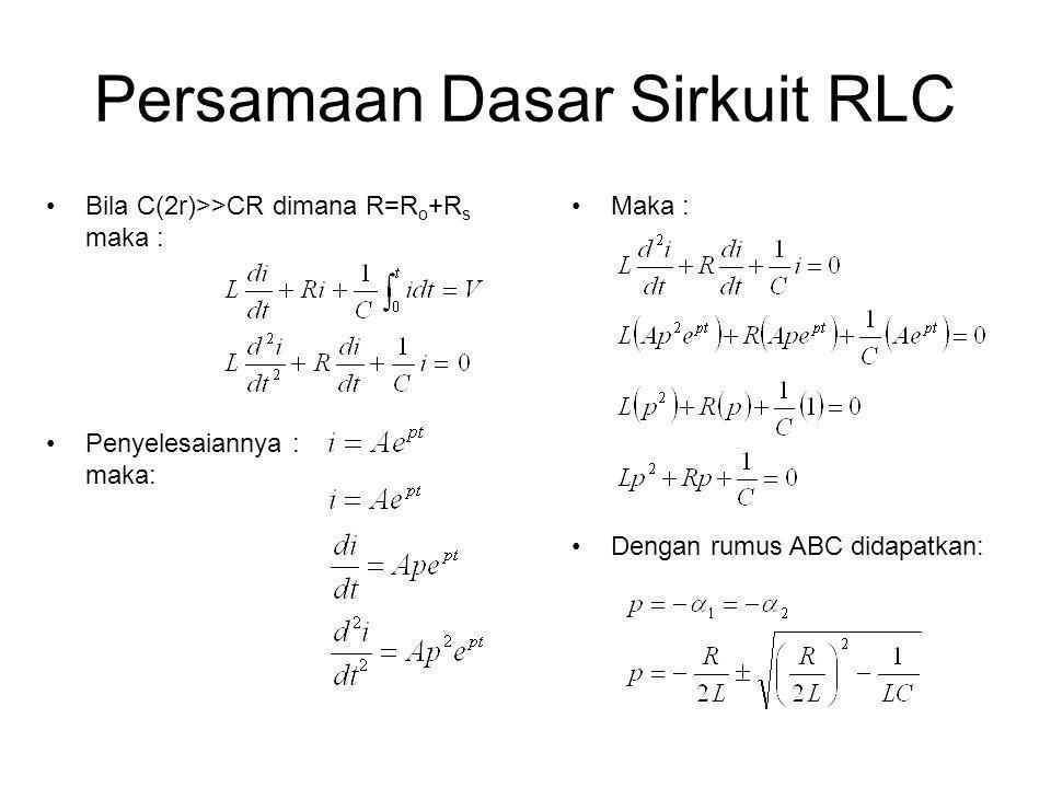 Persamaan Dasar Sirkuit RLC