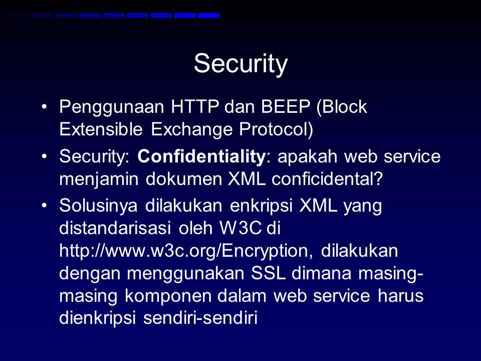 Security Penggunaan HTTP dan BEEP (Block Extensible Exchange Protocol)